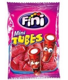 Fini Bag Mini Tube Sour Strawberry 100 gr x 12