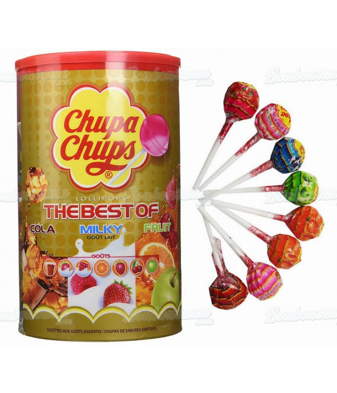 Chupa Chups Best Of x 100 pcs en tubo