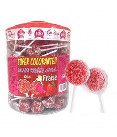 MAXI Ramzy Fizzy Strawberry x 100 JAR