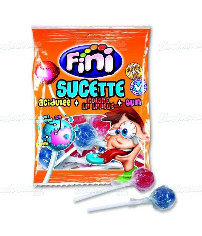 Sachet Fini Sucette Tâche Langue 80 gr x 12 pièces