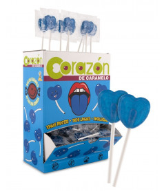 Mini Heart Raspberry Lollipop x 200 pcs
