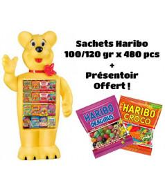 Pack 480 sachets 120 gr HARIBO + Presentoir OFFERT