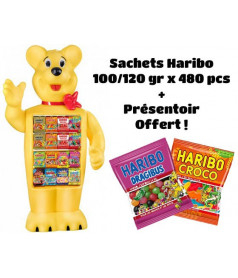 Pack HARIBO 480 bags (120 gr) + Free Display