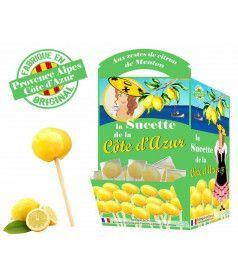 Sucette Côte d'Azur Citron x120 pcs