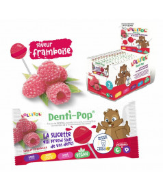 Lollipop Denti-Pop Raspberry x 40 pcs