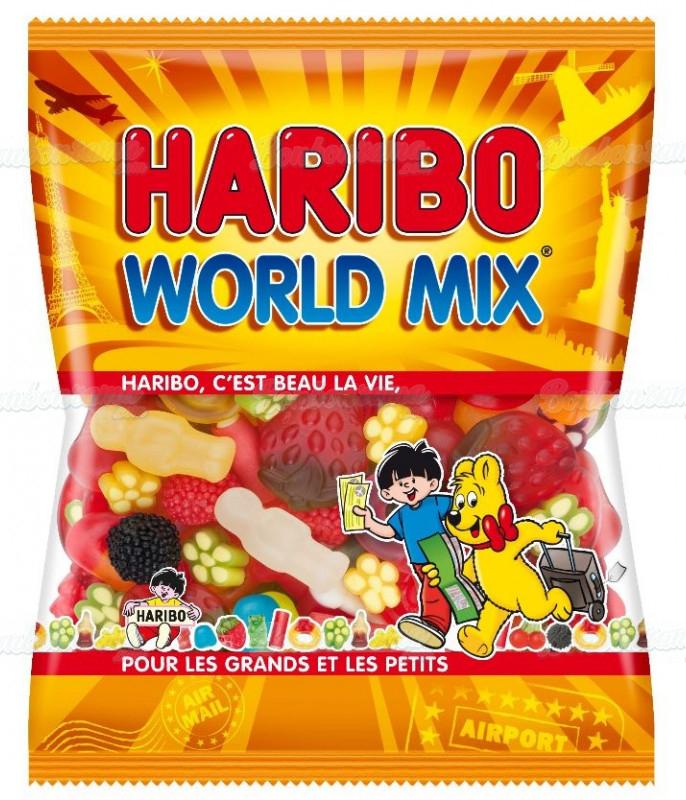 Sachet Haribo 120 gr World Mix x 30