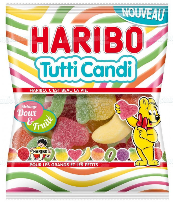Sachet Haribo 120 gr Tutti Candi x 30