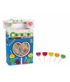 Mini Heart Assorted Lollipop x 200 pcs