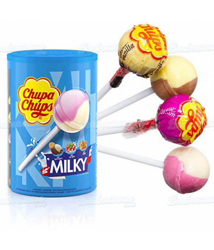 Chupa Chups Milky x 100 pcs en tubo