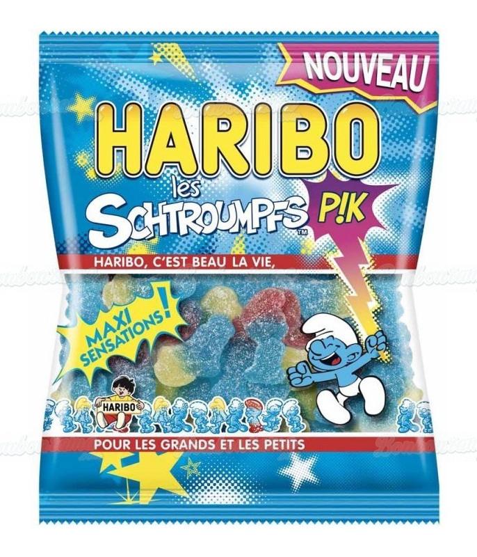 Sachet Haribo 120 gr Schtroumpfs Pik x 30