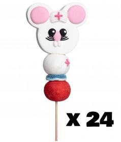 Marshmallow Lollipop Mouse Nurse x 24
