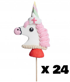 Marshmallow Lollipop Unicorn Nurse x 24