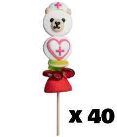 Marshmallow Lollipop Bear Nurse x 24