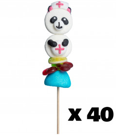 Marshmallow Lollipop Panda Nurse x 40