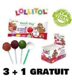 Pack Lollipop Denti-Pop 3 + 1 free