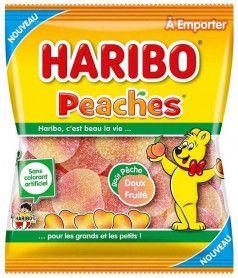Sachet Haribo 120 gr Peaches x 30