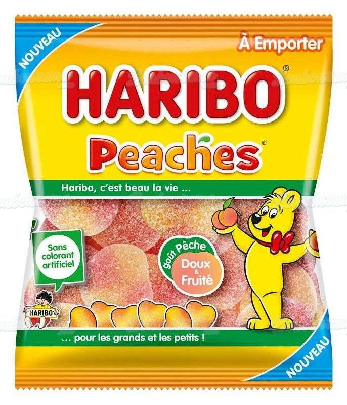 Sachet Haribo 120 gr Pêche x 30