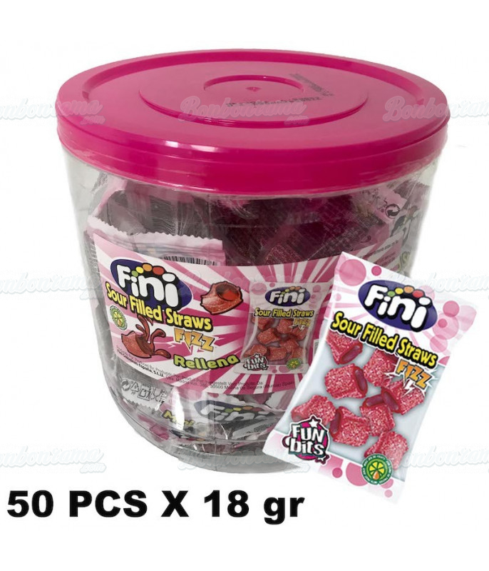 Sour Filled Straws 50 x 18 gr