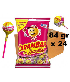 CARTON Lollipop Carambar 24 x 7 pcs
