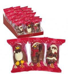 Christmas Figurine Chocolate 55 gr x 18