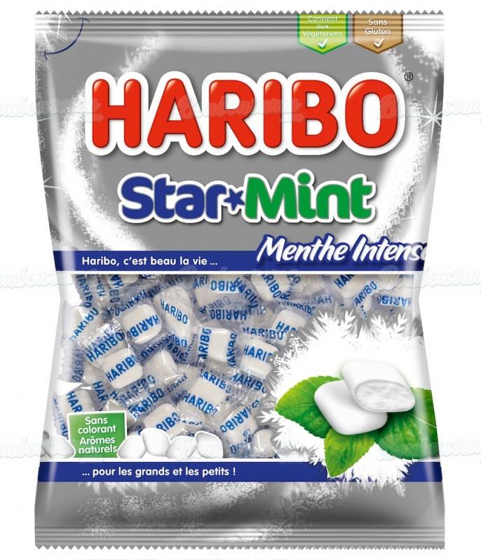 Sachet Haribo 100 gr Star Mint x 30