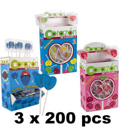 Pack Mini Heart Lollipop x 600 pcs