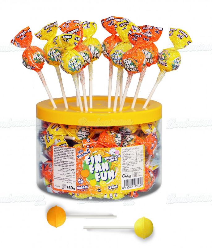Lollipops Fin Fan Fun x 50 pcs JAR