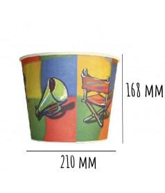 Gobelet à Pop Corn Taille 4 - 3,8 L x 140 pcs