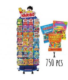 Pack 750 sachets 120 gr HARIBO + Presentoir OFFERT
