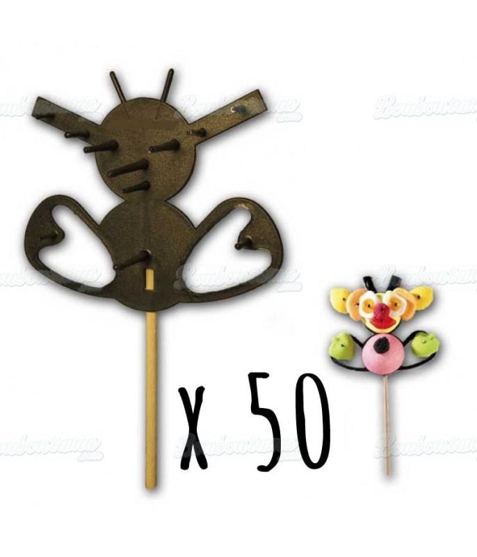 Support Brochette Bonbon Abeille x 50