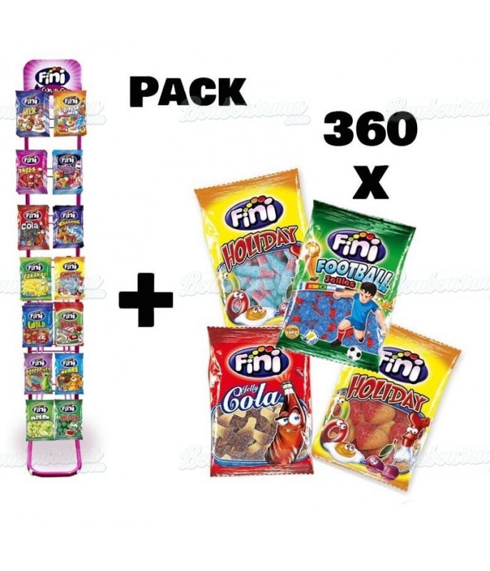 Pack 360 Sachets Fini 100 g + Présentoir 14 broches