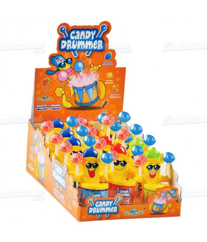 Sucette Poudre Candy Drummer x 12 pcs
