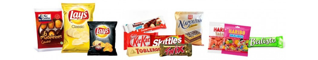 Gamme salée ou sucrée de bonbonrama pour la vente à emporter snacking